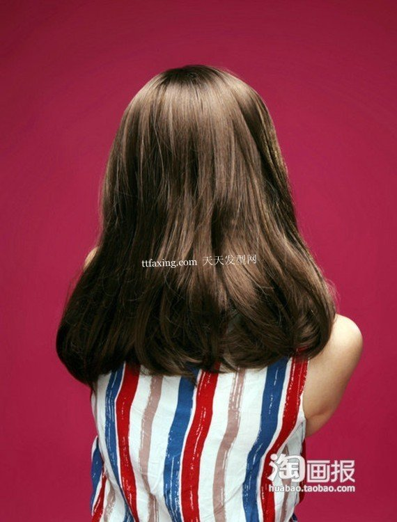 梨花卷发中长直发~美丽风情 梨花烫发型图片图片
