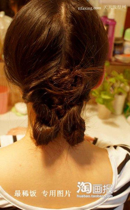 发型教程2012最新发型烫发女人~突显短发a发型打脸扎高马尾图片