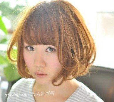 韩国女明星多种风格时尚短发烫发发型 zaoxingkong.com