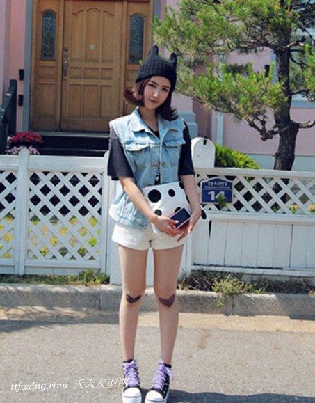 美女MM演绎适合波波头的帽子 zaoxingkong.com