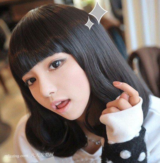 黑色及肩发型恢复清纯甜美气质 zaoxingkong.com