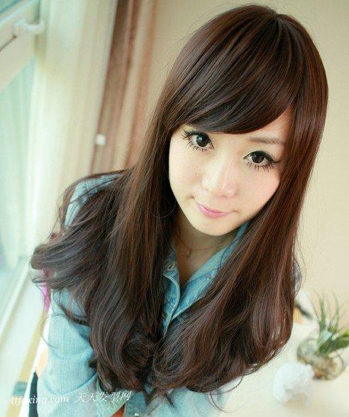 唯美2013韩式中长发修脸时尚具备 zaoxingkong.com