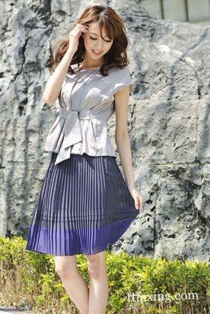 2015夏季穿什么裙子弄什么发型 zaoxingkong.com