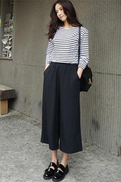宽腿裤如何搭配上衣 显高显瘦显个性 zaoxingkong.com
